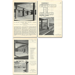 1940 Davyulme Junior And Infants School Lancashire Design, Plans