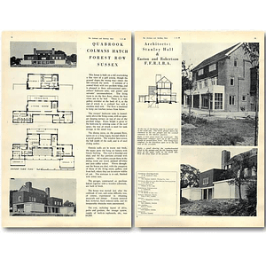 1940 Quabrook, Colmans Hatch Forest Row Sussex Design, Plans