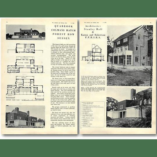 1940 Quabrook, Colmans Hatch Forest Row Sussex Design, Plans