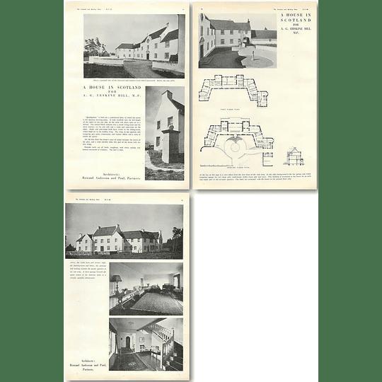 1940 House In Scotland For Ag Erskine Hill, Mp Design,Plans