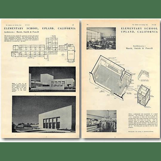 1940 Elementary School Upland California