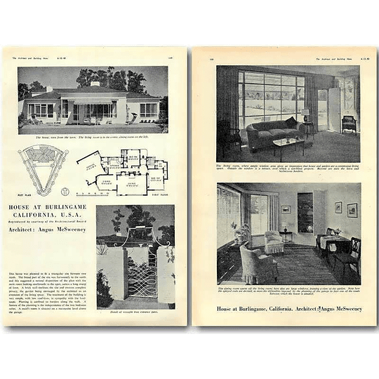 1940 House At Burlingame California, Angus Mcsweeney
