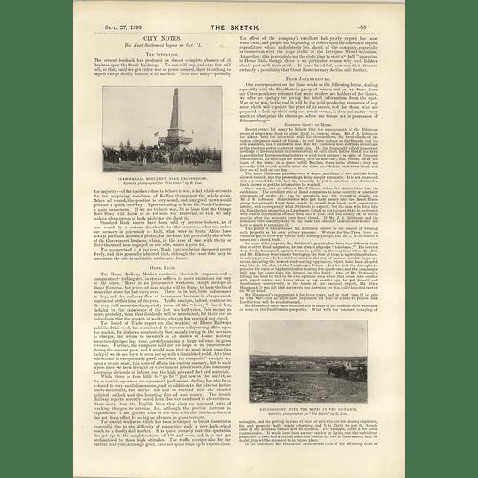 1899 Krugersdorp Mines Paardekraal Monument Mr Ald Treloar Badge Of Office
