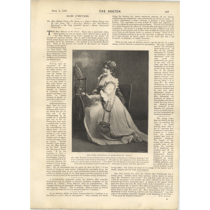 1901 Miss Febea Strakosch Playing In Faust