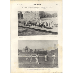 1901 Wg Grace Cricket Practice Crystal Palace