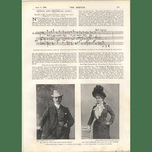 1901 Mr Leonard Boyne Miss Kitty Cheatham