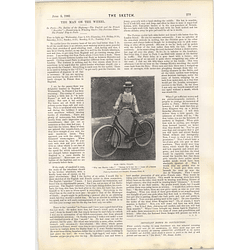 1901 Miss Vesta Tilley With Her Bicycle Epsom Racing Notes