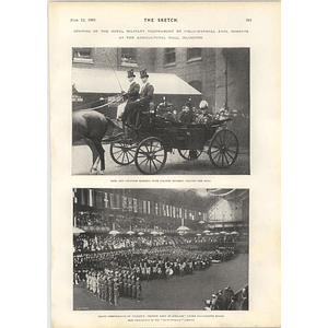 1901 Field Marshal Earl Roberts Opens Royal Military Tournament Agricultural Hall Islington