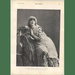 1901 Madame Sarah Bernhardt As Fedora Wilderness Comedy St James