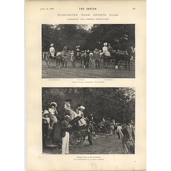 1901 Worcester Park Sports Club Gymkhana Jumping Competition Sarah Bernhardt Characters