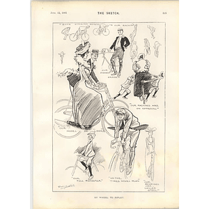 1901 Miss Molly Lowell Rossi Ashton Cartoons Bicycle Fun