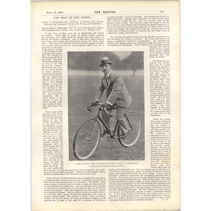 1901 Harry Randolph On His Bike Tivoli Volodyovski Derby Winner
