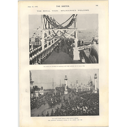 1901 Royal Visit Melbourne Princes Bridge Mme Rejane Ellen Terry Appreciation
