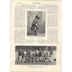 1901 Cricket Match London Actors Provincial Actors Oval Miss Isa Bowman
