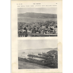 1901 Port Chalmers New Zealand Portobello Harbour Dunedin