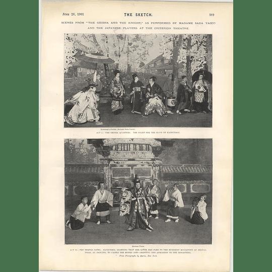 1901 Miss Jessie Bateman Japanese Players Criterion Theatre Madame Yacco