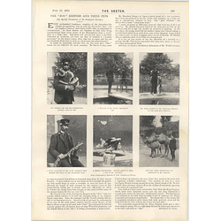 1901 Zookeepers And Their Pets Mlle Liane De Pougy