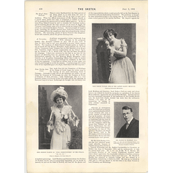 1901 Mr Harold Hartley Miss Georgie Martin Gertie Millar Duchess Of Bedford