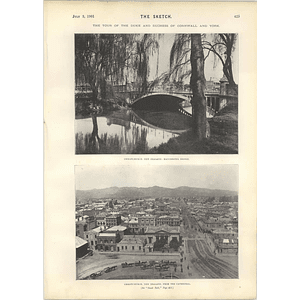 1901 Christchurch New Zealand From The Cathedral Miss Margaret Halstan Sybil Carlisle