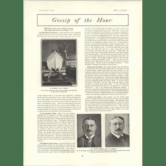 1902 Lifeboat Pulpit Sunderland Edward Evans Liverpool Fw Sidney