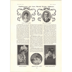 1902 English Women Who Have Married Foreign Noblemen