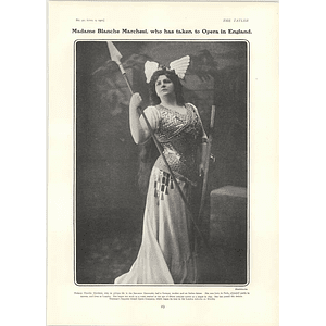 1902 Mme Blanche Marchesi Baroness Caccamisi Taken To Opera
