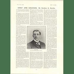 1902 Jack White Professional Golfer Rev James William Smith Shirley
