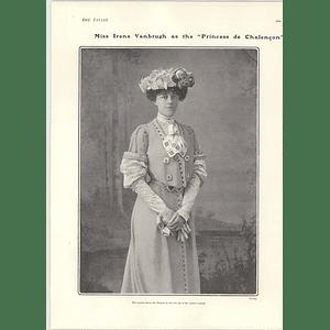 1902 Miss Irene Vanbrugh King Seen On Medallions