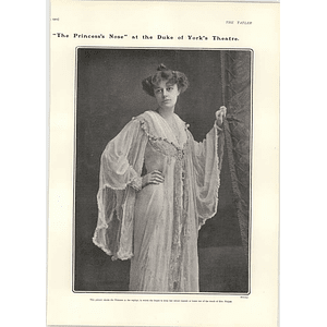 1902 Miss Irene Vanbrugh In Her Negligee