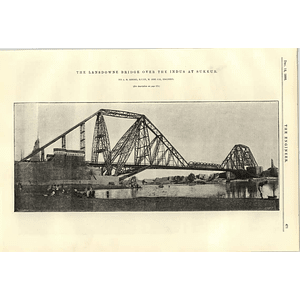 1890 Lansdowne Bridge Over The Indus At Sukkur