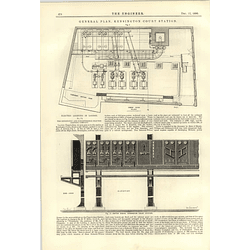 1890 Kensington Knightsbridge Electric Lighting Company Plan Switchboard