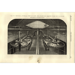 1890 Ss Teutonic General View Port Starboard Engines Top Platform