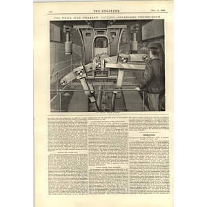 1890 White Star Steamship Teutonic Starboard Engine Room 2