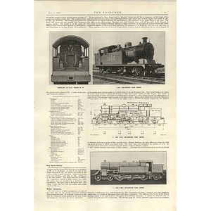 1922 Narrow Gauge Locomotive For New Zealand Ger 6 Coupled Tank Engine