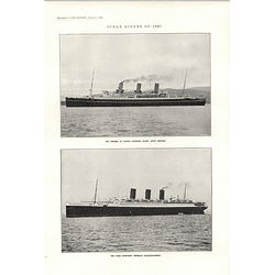 1922 Empress Of Canada Liner Paris Lswr Tank Engine Caledonian Express And