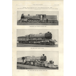 1922 Kerr Stuart Stoke Locomotives For Burma India Atlantic Type