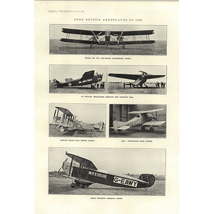1922 Bristol 10 Seater Commercial Plane Westland Walrus Spotting Mars Racing