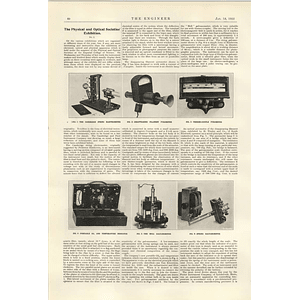 1922 Physical And Optical Society Exhibition Pyrometer Galvanometer