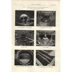 1922 New Outfall Sewer For Manchester Canal Crossing Chambers Interior View