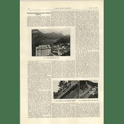 1922 Electrification Of St Gothard Railway 1