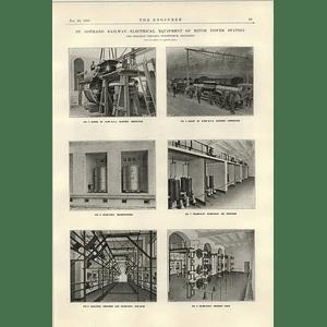 1922 Electrification Of St Gothard Railway 2