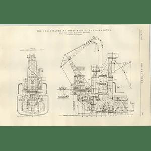 1922 Grain Handling Equipment Of The Garryowen Ship Tug