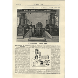 1922 Bowden Close Colliery Newcastle Angle Compound Air Compressors
