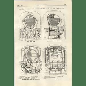 1922 Yorkshire Engine Company Sheffield Three Cylinder Locomotive For Spain 2