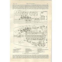 1922 The Motor Ship Pinzon Section Plan Engine Room