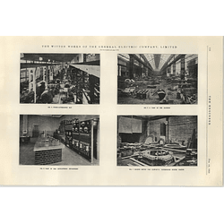 1922 Gec Works At Witton Photographs Foundry Alternator Bay