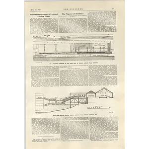 1922 Proposed Improvements For Liverpool Landing Stage Cross-section