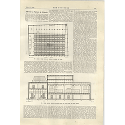 1922 300 Ton Ice Factory At Grimsby 1 Cross-section Cold Stores