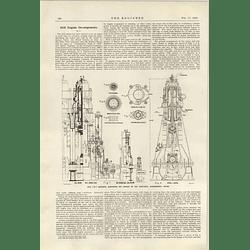 1922 Scott Still Experimental Engine Sections Details