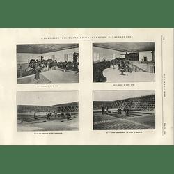 1922 Hydroelectric Plant At Walkerburn Peebleshire 3 Powerhouse Building Reservoir